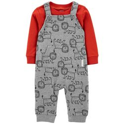 Carters Baby Boys Lion Overalls Set
