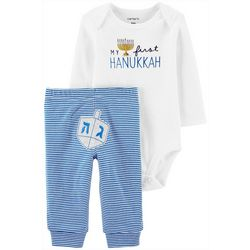 Carters Baby Boys Long Sleeve First Hanukkah Bodysuit Set