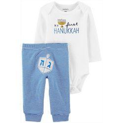 Baby Boys Long Sleeve First Hanukkah Bodysuit Set