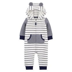 Carters Baby Boys Stripe Hooded Jumpsuit