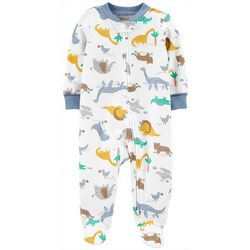 Carters Baby Boys Dino Print Snug Fit Footie Pajamas