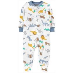 Baby Boys Dino Print Snug Fit Footie Pajamas