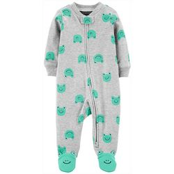 Carters Baby Boys Frog Print Snug Fit Footie Pajamas