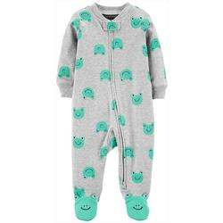 Baby Boys Frog Print Snug Fit Footie Pajamas