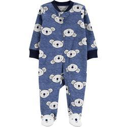 Baby Boys Koala Print Snug Fit Footie Pajamas