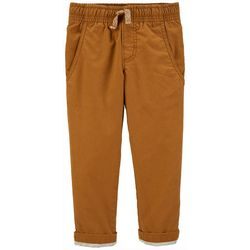Carters Toddler Boys Solid Lined Pull-On Pants