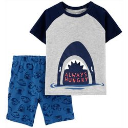 Toddler Boys Always Hungry Shark Shorts Set