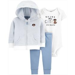 Baby Boys 3-pc. Being Cute Cardigan Layette Set