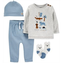 Baby Boys 4-pc. Little Friends Clothing Set