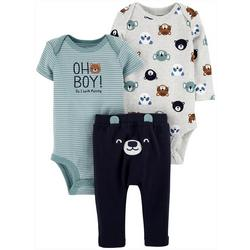 Baby Boys 3-pc. Bear Layette Set