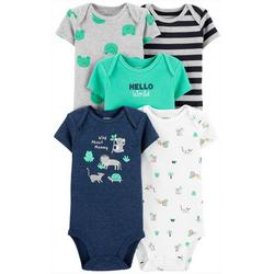 Baby Boys 5-pk. Wild About Mommy Bodysuits