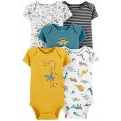 Baby Boys 5-pk. Mommys Cuddlesaurus Bodysuits