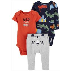 Baby Boys 3-pc. Wild Little One Layette Set