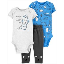 Baby Boys 3-pc. Koalaty Guy Layette Set