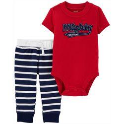 Baby Boys Striped Mighty Handsome Bodysuit Set