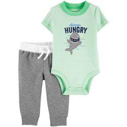 Baby Boys Striped Always Hungry Bodysuit Set
