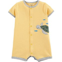 Carters Baby Boys Short Sleeve Turtle Romper