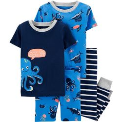 Carters Baby Boys 4-pc. Octopus Snug Fit Pajama Pants Set