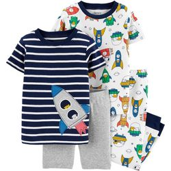 Carters Baby Boys 4-pc. Rocket Pajama Pants Set