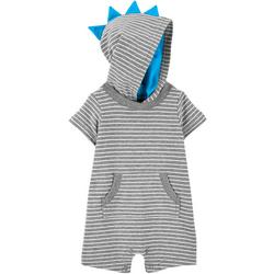 Baby Boys Dinosaur Hooded Romper