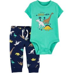 Baby Boys 2-pc. Dinosaur Bodysuit Pant Set