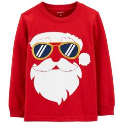 Toddler Boys Santa Face T-Shirt