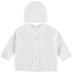 Little Me Baby Boys Knit Sweater & Beanie Set