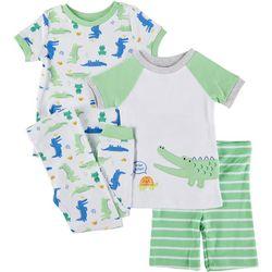 Little Me Baby Boys 4-pc. Alligator Pajama Set