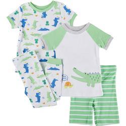 Baby Boys 4-pc. Alligator Pajama Set