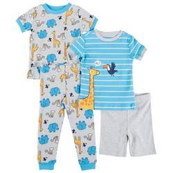 Baby Boys 4-pc. Safari Pajama Set