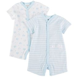 Little Me Baby Boys 2-pk. Elephant Romper Set