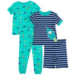 Little Me Baby Boys 4-pc. Space Ship Pajama Set