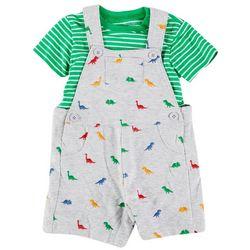 Little Me Baby Boys 2-pc. Dino Shortall Set