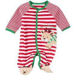 Little Me Baby Boys Xmas Reindeer Pajamas
