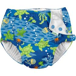 Baby Boys Turtle Journey Snap Swim Diaper