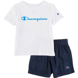 Champion Toddler Boys 2-pc. Logo Solid Short Set