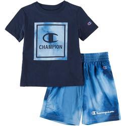 Toddler Boys 2-pc. Logo Tie Dye Short Set