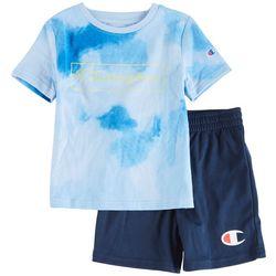 Champion Toddler Boys 2-pc. Tie Dye Logo Print Short Set