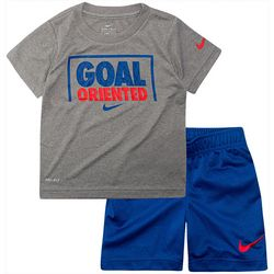 Nike Toddler Boys Dri-FIT Goal Oriented Shorts Set