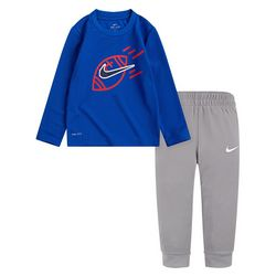 Nike Toddler Boys 2-pc. Thermal Long Sleeve Top & Pants Set