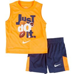 Toddler Boys 2-pc. Just Do It Shorts Set