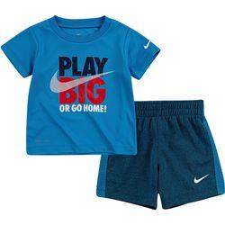 Baby Boys Dri-FIT Play Big Shorts Set