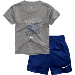 Nike Toddler Boys Dri-FIT Short Sleeve Awesome Shorts Set
