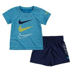 Nike Baby Boys Dri-FIT Heather Swoosh Logo Shorts Set
