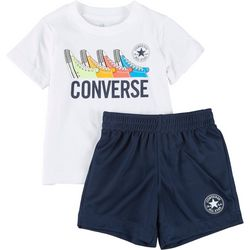 Converse Toddler Boys Sneaker Shorts Set