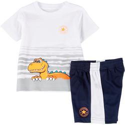 Toddler Boys Dino Shorts Set