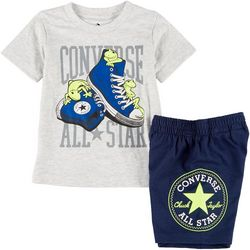 Converse Toddler Boys Sneakers Shorts Set