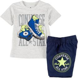 Toddler Boys Sneakers Shorts Set