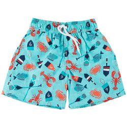 Floatimini Toddler Boys Lobster Swim Trunks