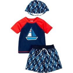Floatimini Toddler Boys 3-pc. Sailboat Rashguard S